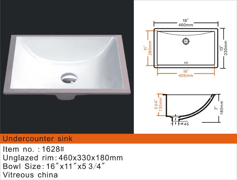 Small Rectangular Porcelain Undermount Sinks