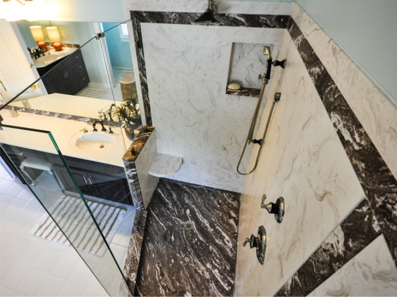 Shower Design And Renovation With Custom Cast Marble Showers